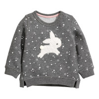 H&M Sweatshirt with Appliqué $14.99