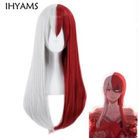 Cool Anime Boku no Hero Academia Todoroki Shoto Long Wig Cosplay Costume My Hero Academia Women Synthetic Hair Wigs + Wig CapAT_93_12