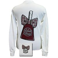 MSU Mississippi State Bulldogs CowBell Big Bow Girlie Bright Long Sleeves T Shirt