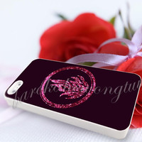 Divergent Dauntless The Brave Pink Sparkle Glitter - For iPhone 4/4s, iPhone 5/5S/5C, Samsung S3 i9300, Samsung S4 i9500 Hard Case