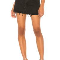 AGOLDE Quinn High Rise Skirt in Black Rock