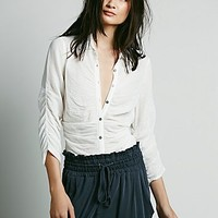 Free People Womens Rouched Tuck in Blouse