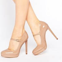 Faith Chrissie Nude Patent Mary Jane Shoes