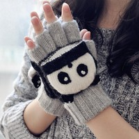 FunShop Panda Mitten Gloves for Women G1030