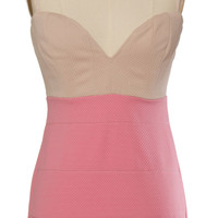 Pink Body Con Party Dress