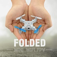 Foldable RC Mini Pocket Drone Portable 2.4G 6-AXIS RC Quadcopter RC Helicopter Toys Remote Control Drone