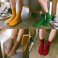 Hot Deal On Sale Korean Socks Ladies Sweets Cotton Boots [8362388807]