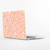Gold and White Confetti Laptop Skin