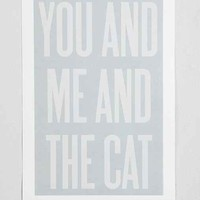 Ashley G You And Me And The Cat Art Print