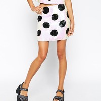 ASOS | ASOS co-ord Mini Skirt with Embellished Spots at ASOS