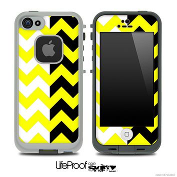 Two Toned Chevron Pattern Yellow Skin for the iPhone 5 or 4/4s LifeProof Case