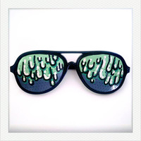 Hand Drawn Shades (Slimy) - colorful sunglasses for fun costume, party decoration and special occasions (Ship on 26 Nov onwards)