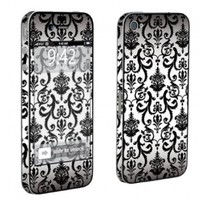 Apple iPhone 4 or 4s Full Body Decal Vinyl Skin - White Vintage Flow By SkinGuardz:Amazon:Cell Phones & Accessories