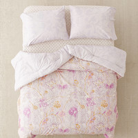 Taliah Mixed Floral Reversible Comforter Snooze Set   Urban Outfitters