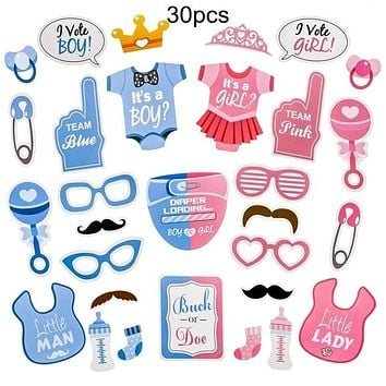 Baby Shower It's A Boy/Girl Photo Booth Props (Multiple Styles Available!)