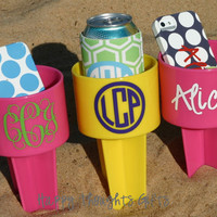 Monogrammed Beach Drink Holder Sand Spiker