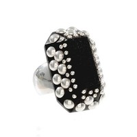 Greenwich Jewelers   Products   Category   Rings   Under $150   Argento Wood Ring with Sterling Silver Studs