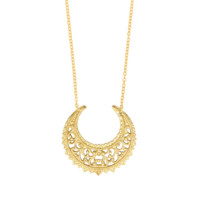 Eastern Crescent Gold Necklace