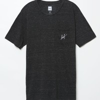HUF Script Nepp Pocket Black T-Shirt - Mens Tee - Black