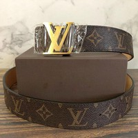 Louis Vuitton Tide brand men and women classic chessboard presbyopia fashion smooth buckle belt