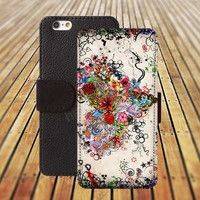 iphone 5 5s case Love Heart Art colorful iphone 4/4s iPhone 6 6 Plus iphone 5C Wallet Case,iPhone 5 Case,Cover,Cases colorful pattern L463