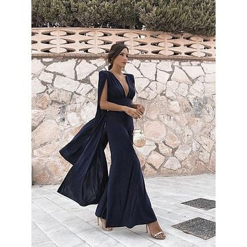 Lupita Elegant Design Open Back Fashion Jumpsuit
