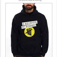 5SOS logo Hoodies in Black, Gray and Red Colors
