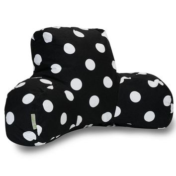 Black Large Polka Dot Reading Pillow