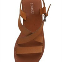 Strap Across Sandals, Brown
