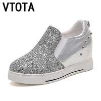 VTOTA Women Casual Platform Shoes 2017 High Heels Shoes Woman Wedges Breathable Women Shoes Fashion Waterproof zapatos mujer B62