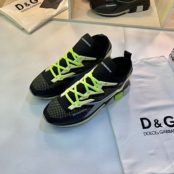 D&G DOLCE & GABBANA 2021 NEW ARRIVALS Men's And Women's Flyknit Sneakers Shoes