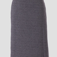 Transitions Quilted Midi Pencil Skirt