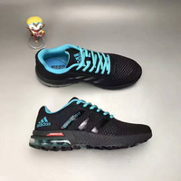 """Adidas"" Fashion Casual Knit Fly Line Surface Unisex Air Cushion Sneakers Couple Running Shoes"