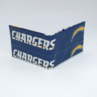 Small Blue and Yellow Los Angeles Chargers Men's Boy's Kid's Wallet, Billfold Bifold Wallet, Cool Christmas Gifts for Men, Stocking Stuffers