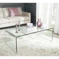 clear glass coffee table - Google Search