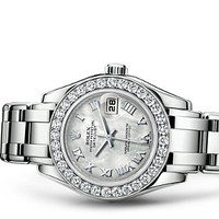 Rolex Pearlmaster 29 Watch: 18 ct white gold - 80299