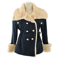 New Warm Korean Fashion Wool Blend Jacket Double-breasted Womens Coat Outwear SM6