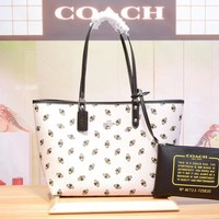COACH WOMEN'S HOT STYLE LEATHER TOTE BAG HANDBAG