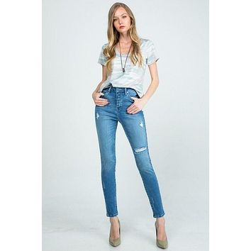 High Rise Skinny with Botton Fly