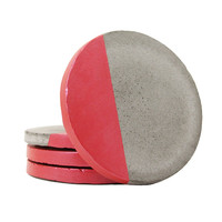 Concrete Coasters, Modern Coasters, Drink Coasters, Cement Coasters, Unique Coasters, Geometric Coasters, Stone Coasters, Red - Set of 4
