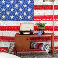 Urban Outfitters - Plum & Bow Floral Flag Tapestry