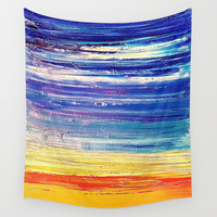 Beach Sunset Wall Tapestry by Sweet Colors Gallery
