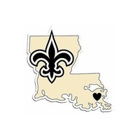 NFL New Orleans Saints Home State Auto Car Window Vinyl Decal Sticker
