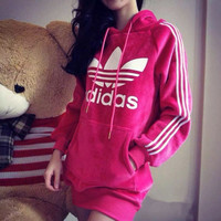 Adidas: Fleece in long hair thickening large size ladies pleuche dress