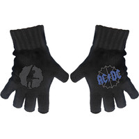 AC/DC Knit Gloves Black