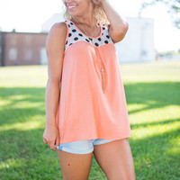 Polka Dot For Today Tank, Orange
