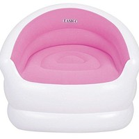 By PoolCentral 37 inch  White and Pink Color-Splash Indoor/Outdoor Inflatable Lounge Chair