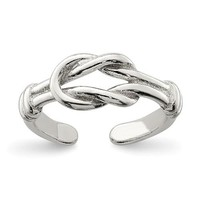 Sterling Silver Love Knot Toe Ring