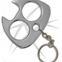 Silver Cat Self Defense Key Chain Knuckles