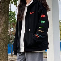 NIKE Woman Men Fashion Hoodie Cardigan Jacket Coat Sweatshirt
